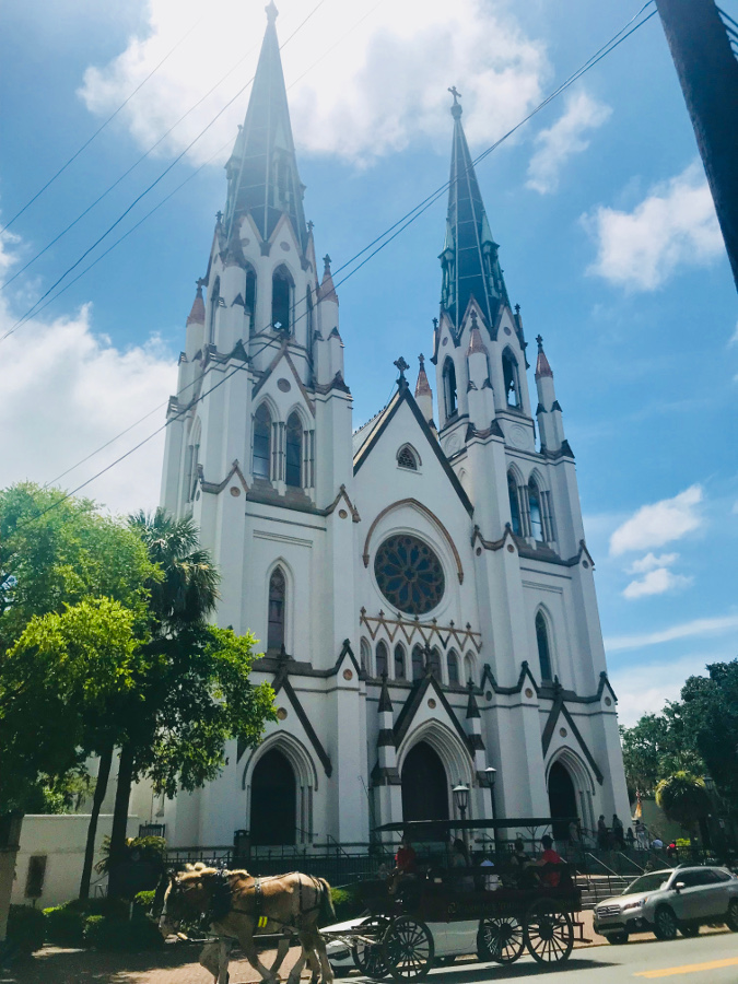 The Cathedral of St. John the Baptist is one of the Savannah points of interest. Read this Savannah guide to discover the top things to do in Savannah Georgia. #savannah #georgia #usa #savannahguide