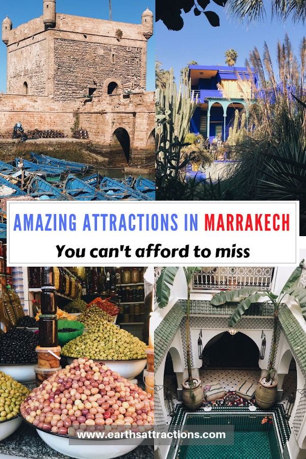 Marrakech travel: Amazing tourist attractions in Marrakech you can't afford to miss. Discover the best places to see in Marrakech and tips for visiting Marrakech #marrakech #marrakesh #morocco