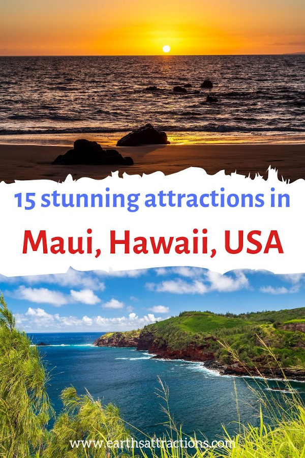 Stunning Maui attractions to see - these are the best places to visit in Maui #maui, #hawaii #usa #travel