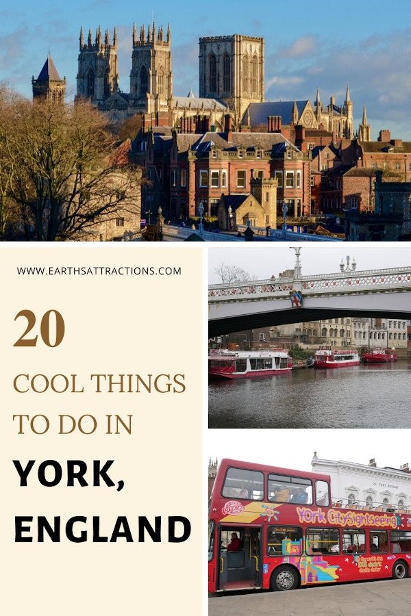 20 great things to do in York, England. Discover the best places to visit in York, UK from this complete York guide. These 20 amazing York activities will make you want to visit York England now. Use this York sightseeing guide to create your York bucketlist and your York itinerary for the perfect trip to York, England. #york #england #uk #greatbritain #gb #europe #travel #travelguides #earthsattractions #traveltips