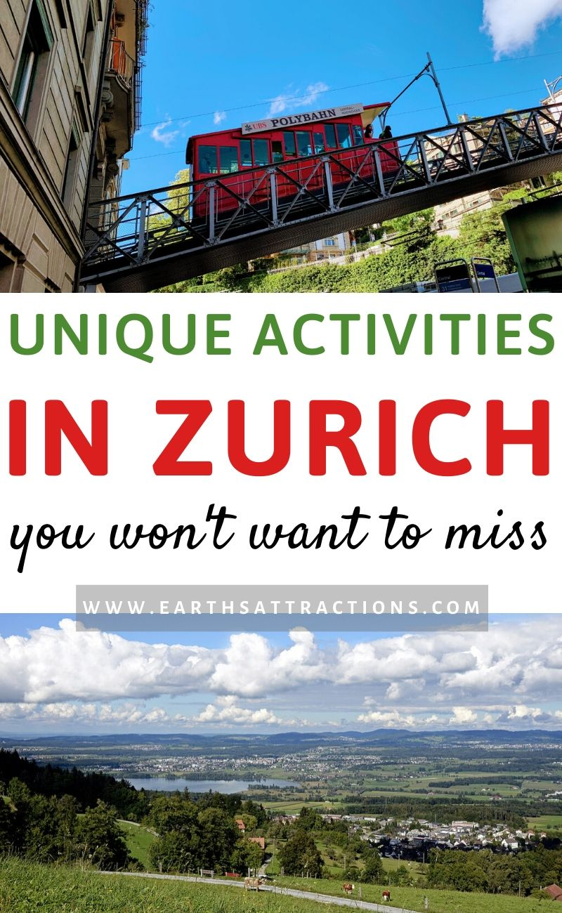 Unique activities in Zurich, Switzerland to include on your Zurich trip. Discover the best unique things to do in Zurich that you'll want to include on your Zurich itinerary when you visit Europe. The top fun things to do in Zurich are included in this guide to unusual things to do in Zurich by a local. #zurich #switzerland #europe #travelguide #traveltips #earthsattractions #zurichthingstodo