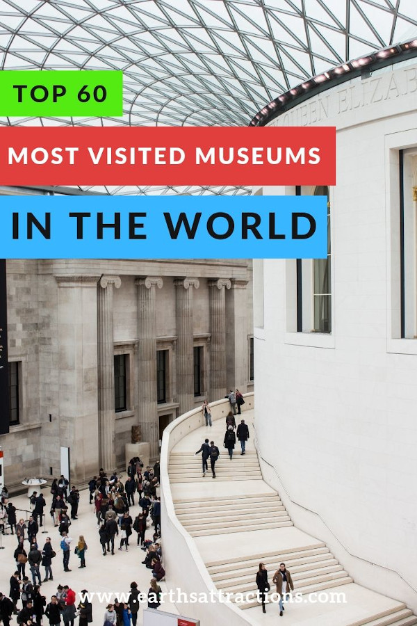 Top 60 most visited museums in the world - top 20 best museums in Europe, top 20 best museums in the US, top 20 best museums in the Asia Pacific #museum #europe #travel #asia #usa