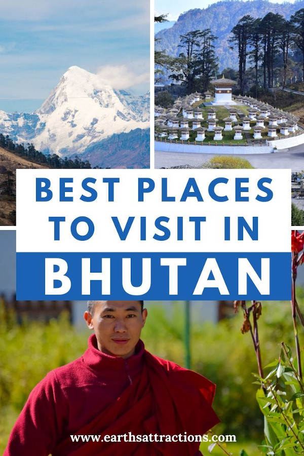 Bhutan: places to visit. Here is the top budget itinerary for Bhutan. What do to for 6 days in Bhutan, Bhutan accommodation, Bhutan tips, and more. The best guide for Bhutan by an insider. #bhutan #bhutanguide #asia #travel #traveldestinations #asiatravel #bhutanthingstodo #travelitinerary #earthsattractions