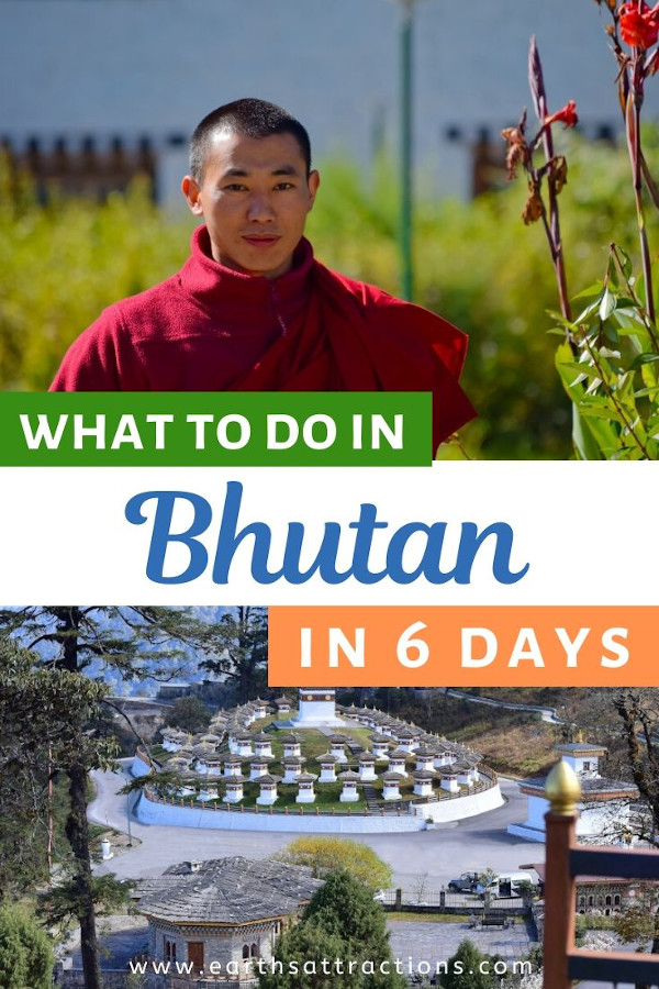 What to do in Bhutan in 6 days: the perfect Bhutan itinerary with the best things to do in Bhutan on your first trip. This ultimate Bhutan guide for first timers includes everything you should know about Bhutan: Bhutan visa, Bhutan attractions, practical tips for Bhutan, and more! #bhutan #bhutanguide #asia #travel #traveldestinations #asiatravel #bhutanthingstodo #travelitinerary #earthsattractions