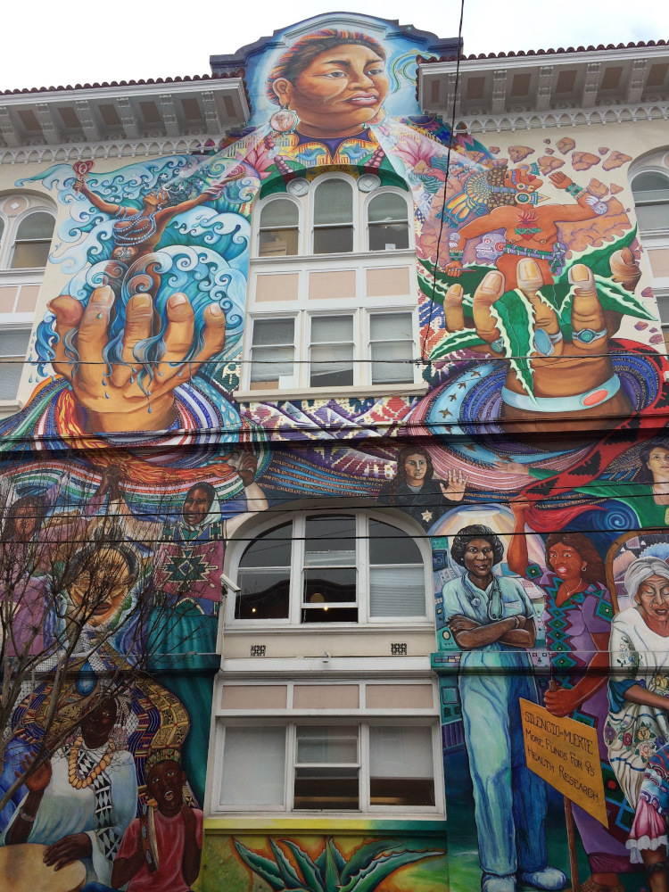 Mural in Mission District, San Francisco. Insider's guide to San Francisco with the best places to visit in SF, San Francisco restaurants, San Francisco hotels and more #sanfrancisco #sf #usa #travel