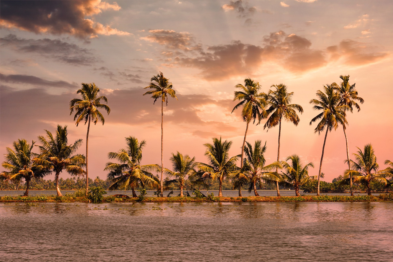 Alleppey, Kerala, sunset. Discover why you should visit Kerala, India