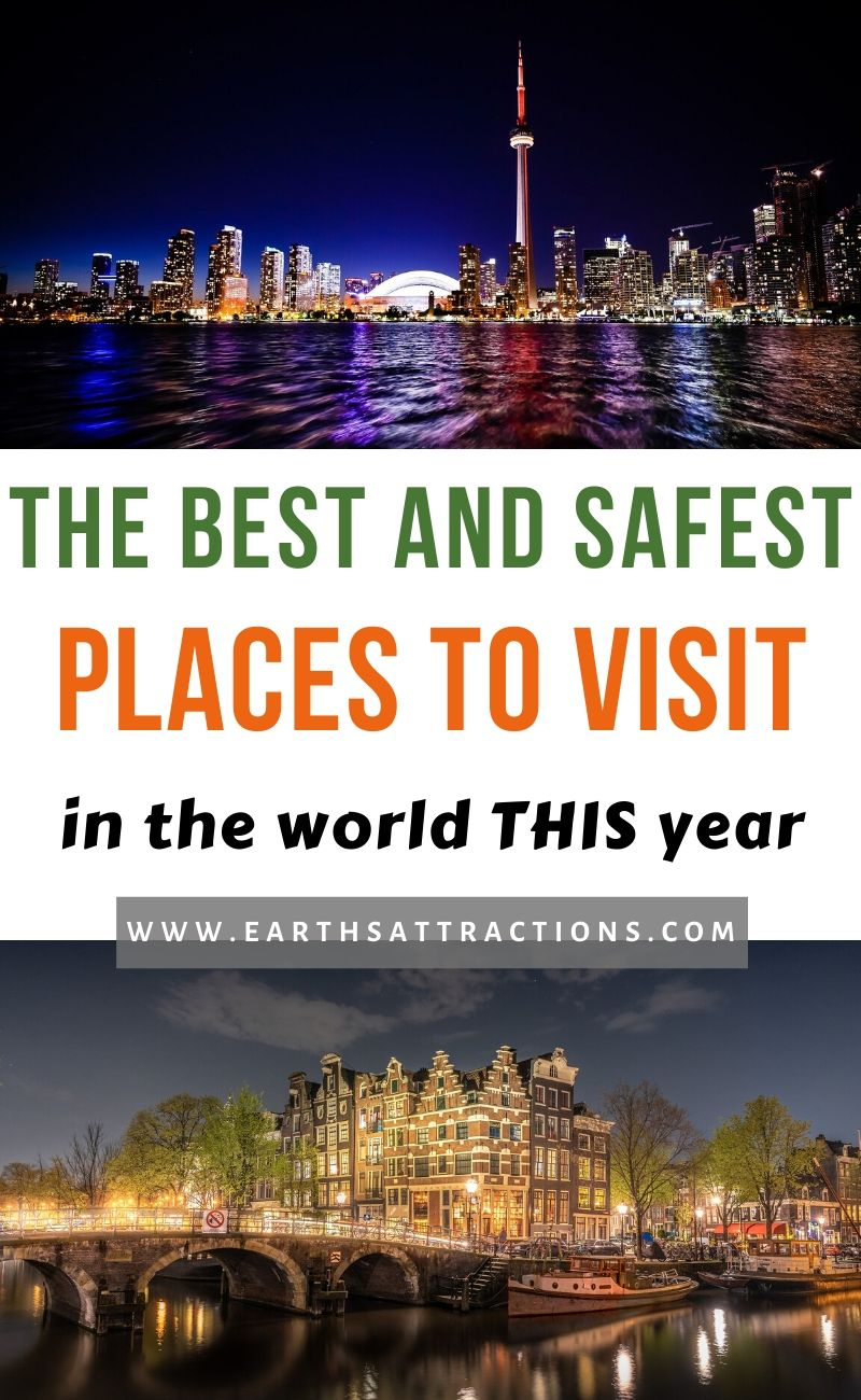 The best and safest places to visit this year! These are the safest destinations in the world right now! #safe #safestdestinations #placestovisit #traveldestinations #bestdestinations #earthsattractions #safety