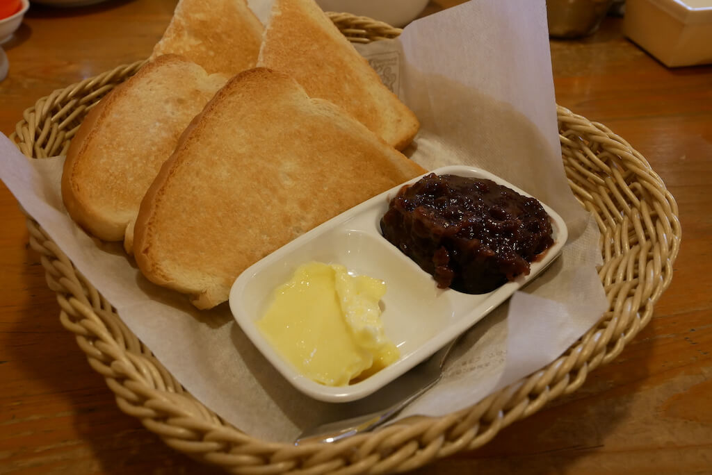 Komeda's Coffee, Ogura toast. What to eat in Nagoya and the best restaurants in Nagoya, Japan