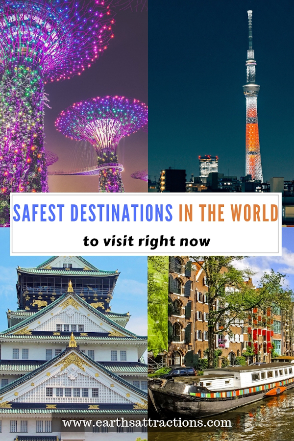 Top safest destinations to visit right now. These are the safest places to travel to right now! #report #safe #safecities #safety