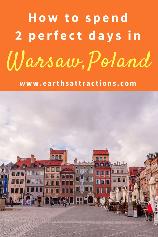 How to spend 2 perfect days in Warsaw, Poland. The best Warsaw attractions are included in this 48 hours in Warsaw itinerary. #warsaw#poland #travel #europe #traveleurope