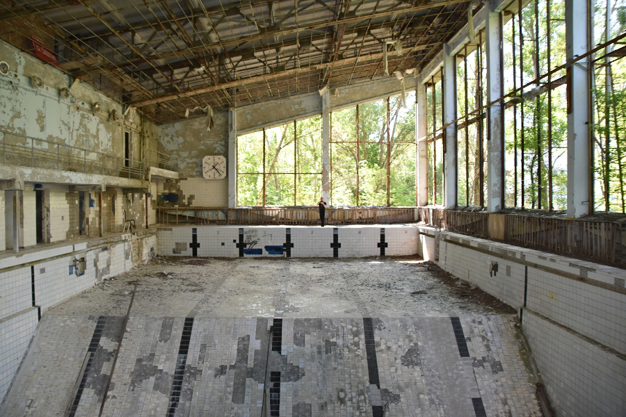 Azure Swimming Pool. Is it safe to visit Chernobyl today? Check out this comprehensive article for history and facts about the Chernobyl disaster, Chernobyl safety tips to know before you go, plus details about the Chernobyl Exclusion Zone, things to do in Chernobyl, including pictures #Chernobyl #Chernobyldisaster #ChernobylHBO