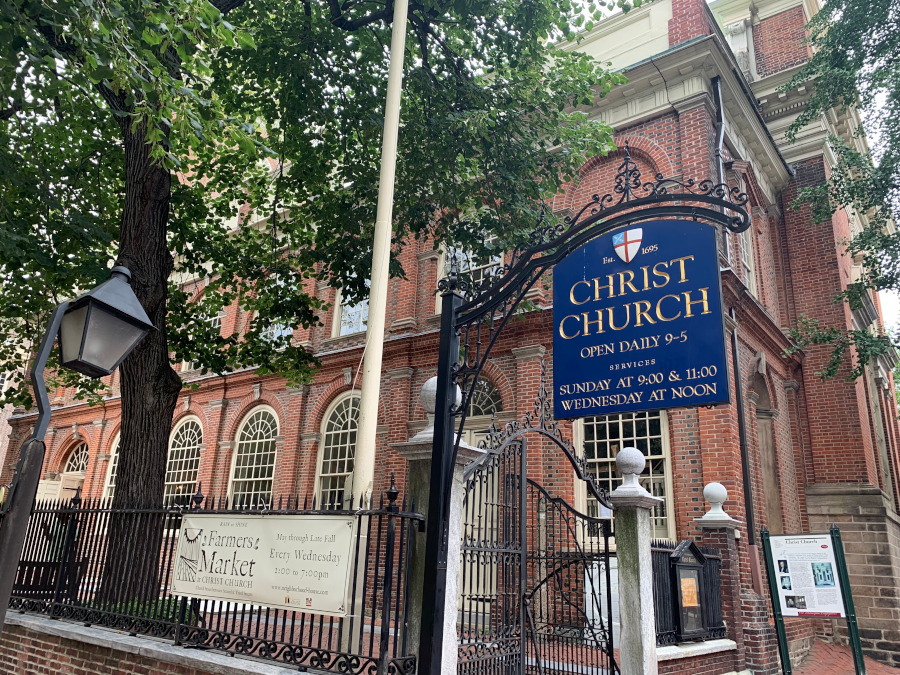 Christ's Church, Philadelphia. Discover the top places to visit in Philadelphia, USA