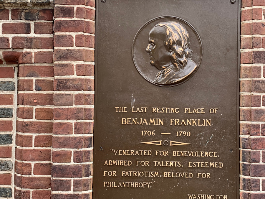 Ben Franklin's Grave, Philadelphia. Top tourist attractions in Philadelphia, USA