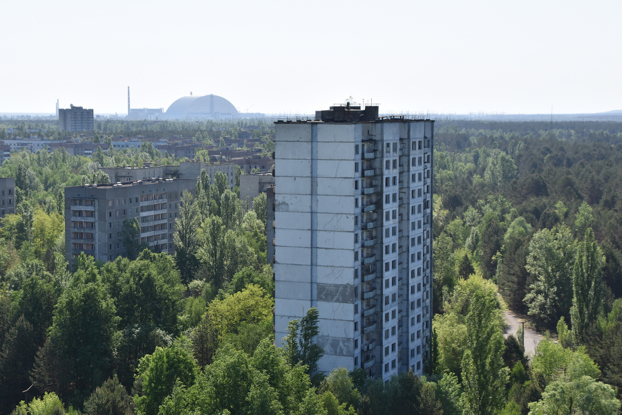 Pripyat rooftops. Chernobyl and Pripyat guide