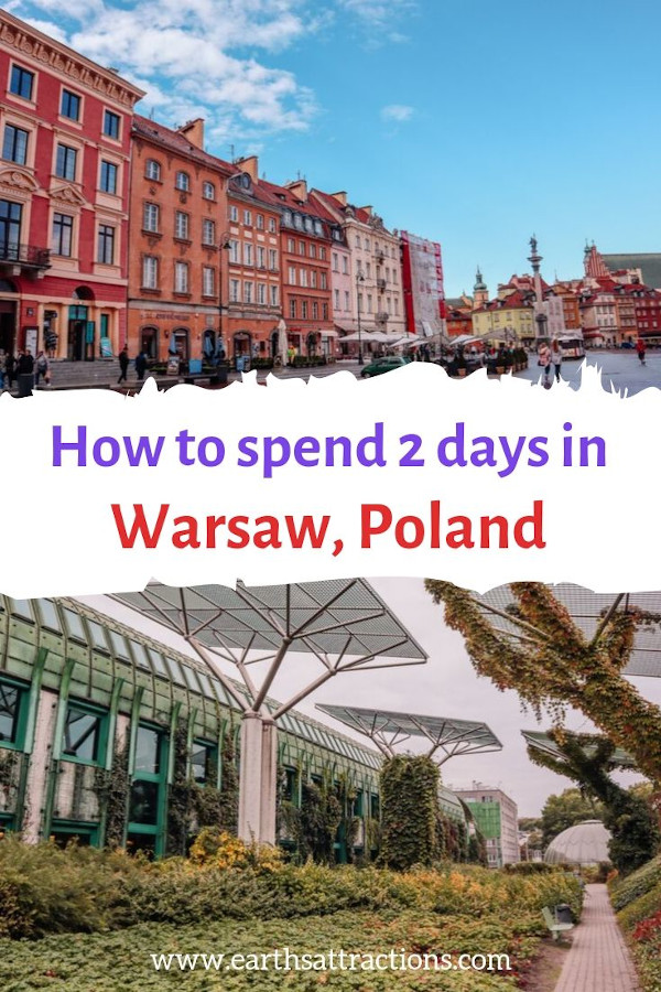 How to spend two days in Warsaw, Poland. Discover the best places to see in Warsaw, and great Polish food from this Warsaw 2-day itinerary #warsaw#poland #travel #europe #traveleurope