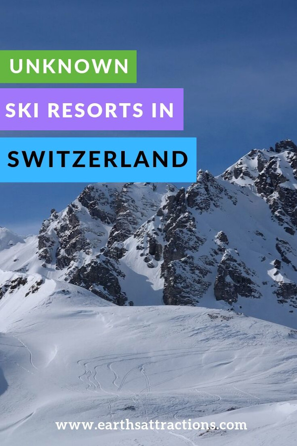 Best unknown ski resorts in Switzerland - these are the best places to ski in Switzerland if you want to avoid crowds #swiss #ski #switzerland #travel #europe