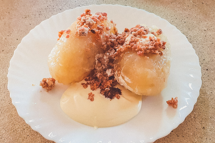 Cepelinai, traditional food. How to spend 3 days in Vilnius, Lithuania: what to see in Vilnius, what to eat in Vilnius, hotels in Vilnius and useful Vilnius travel tips.