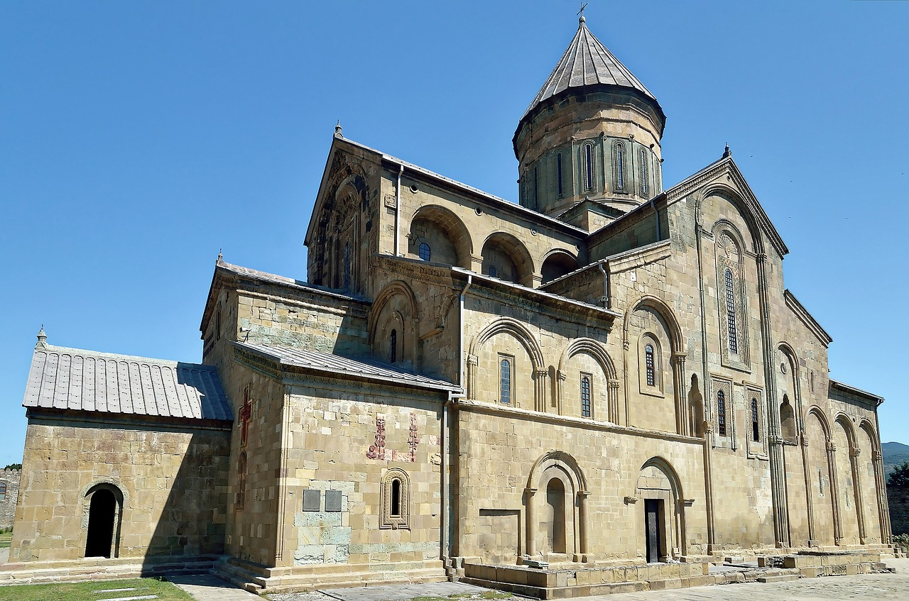 Svetitshoveli Cathedral. Fall festivals in the South Caucasus