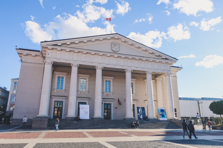 Vilnius Town Hall building in Town Hall Square. Your 3-day itinerary for Vilnius, Lithuania.