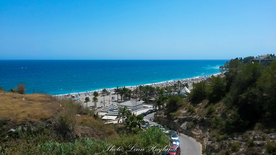 Burriana beach in Nerja. Things to do in Costa del Sol, Spain. Use this 3-day Costa del Sol itinerary when planning your trip