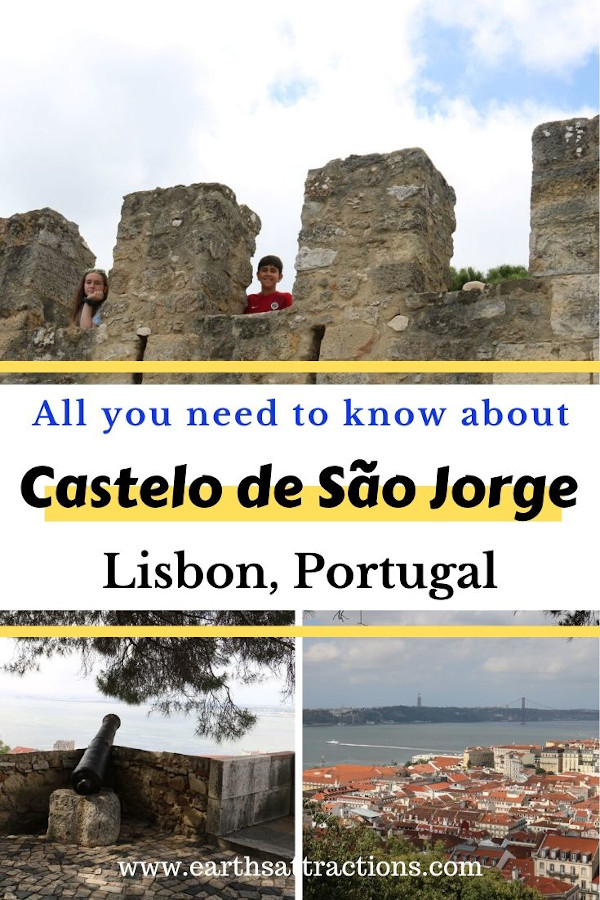 The ultimate guide to visiting Castelo de São Jorge, Lisbon. Use this Lisbon Castle guide when planning your trip: it includes when to visit Lisbon, Sao Jorge Castle things to do - cannons, courtyards, towers, and more and useful insider tips for Lisbon Castle. #lisbon #portugal #castle #lisboncastle #travel #europe