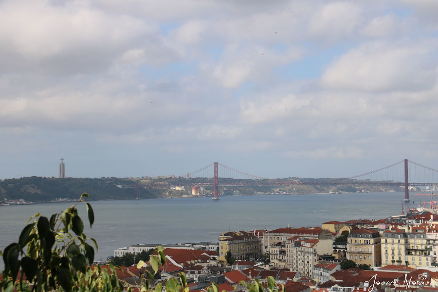 View from the Castelo de Sao Jorge - The Christo Rei statue