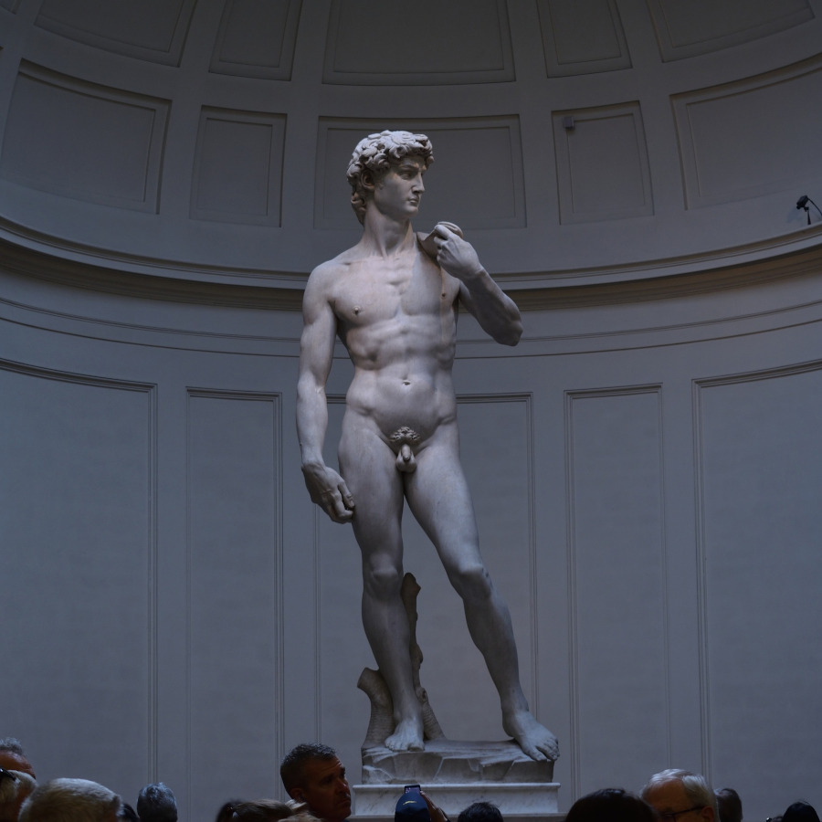 Statue of David (by Michelangelo) in Florence, Italy. Top 20 things to see in Florence, Italy