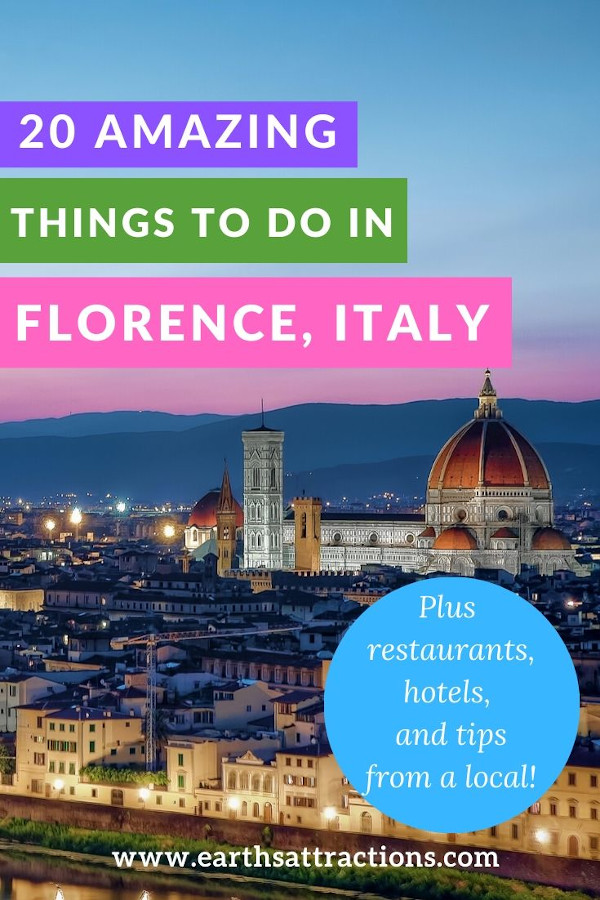 20 Amazing things to do in Florence, Italy. This travel guide to Florence includes everything you need to know to plan and have the perfect Florence vacation: famous Florence attractions, off the beaten path things to do in Florence, restaurants, top hotels in Florence, and useful Florence travel tips - all from a local! #florence #italy #florenceguide #florencetips #travelguide #europe #travel