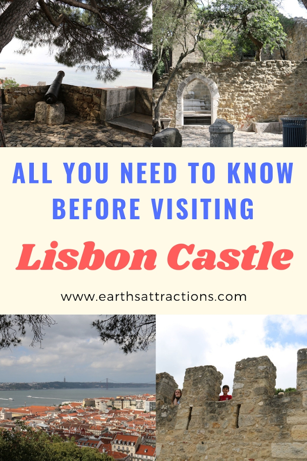 All you need to know before visiting Lisbon Castle: useful insider tips for Castelo de Sao Jorge, fun things to do at Sao Jorge Castle, and more. #lisbon #portugal #castle #lisboncastle #travel #europe