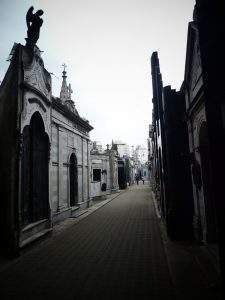 The famous Recoleta Cemetery features famous people's graves (among them Evita's) and looks like a neighbourhood with posh little houses. Best places to visit in Buenos Aires Argentina