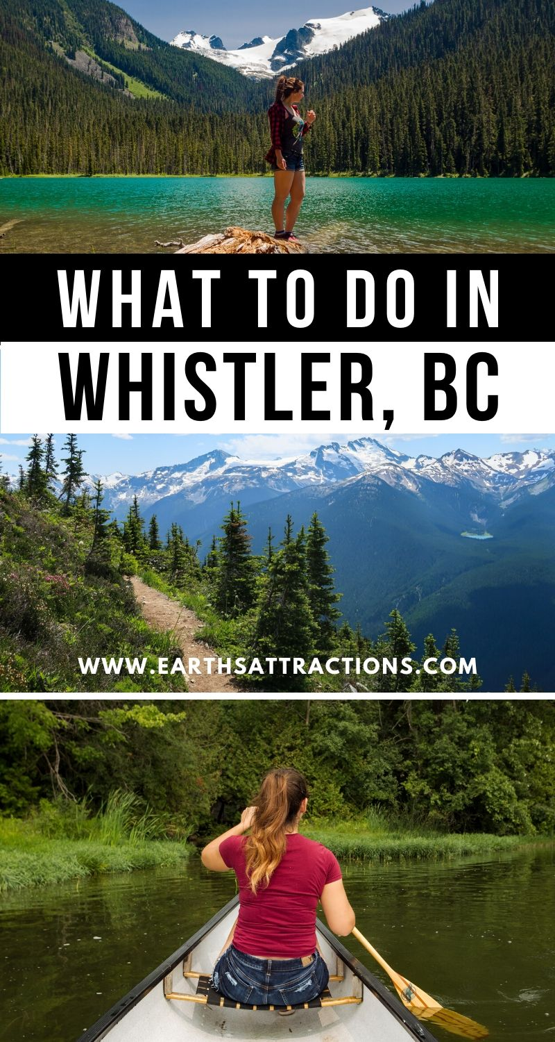 What to do in Whistler, British Columbia, Canada. Use this guide to Whistler to discover the best things to do in Whistler in summer and the tip things to do in Whistler in winter. Whistler restaurants, Whistler hotels, and Whistler tips are also included. Use this article to create your Whistler bucket list or your Whistler itinerary! #whistler #bc #canada #whistlersummer #whistlerwinter #travel #travelguide #britishcolumbia