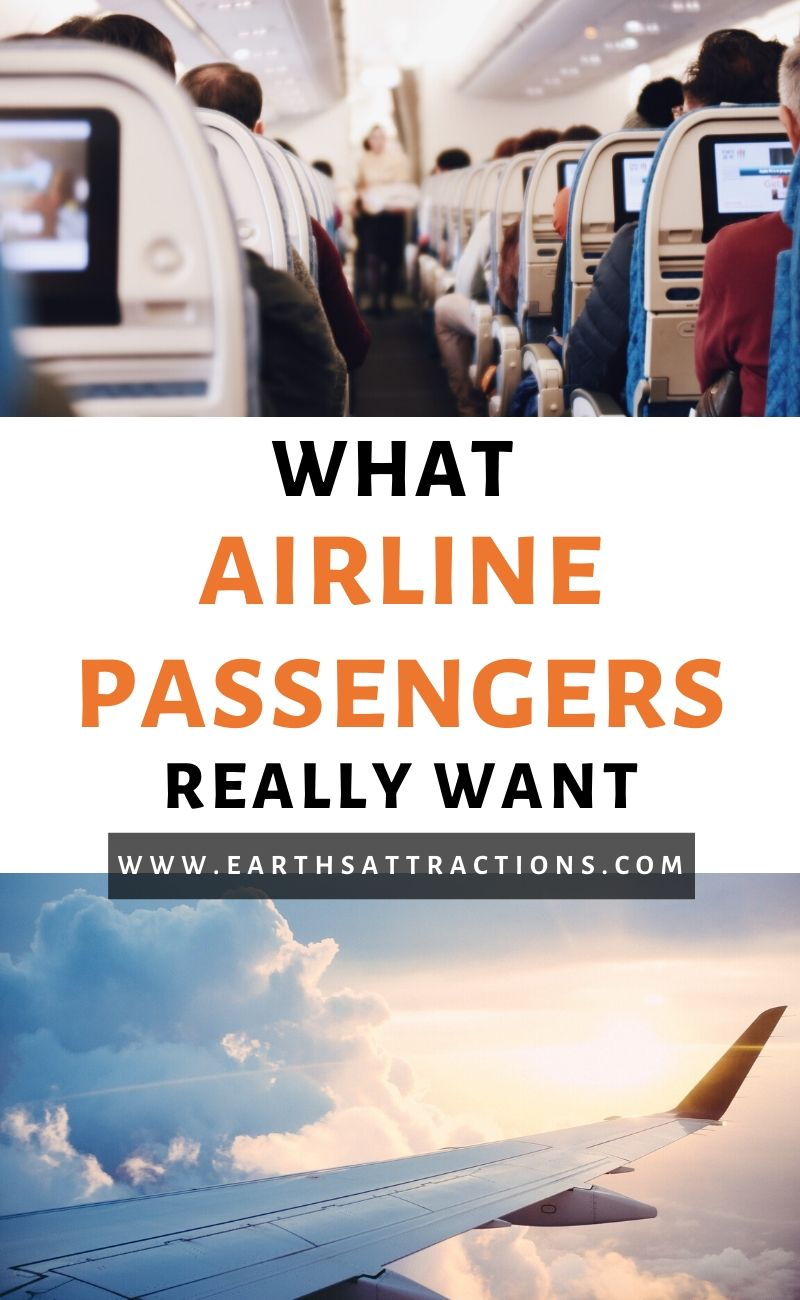 Here's what airline passengers really want. From using biometrics to check-in with their smartphone and have their luggage delivered at the destination, and beyond, these are the airline passengers survey results. #flying #airplane #airport #airline #survey