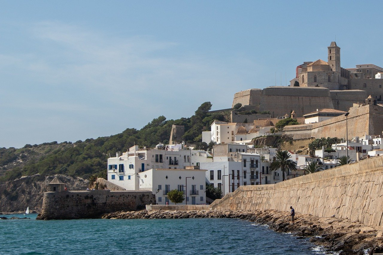 Ibiza Old Town, Dalt Vila. Unusual places to visit in Ibiza, Spain