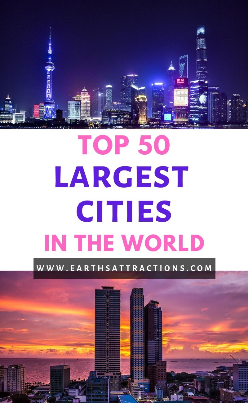 Discover the top 50 most populated cities in the world. These are the largest cities in the world! Tokyo is the largest urban area in the world. Read the article to discover the top 50 biggest urban areas in the world. #top #topcities #largestcities #populatedcities