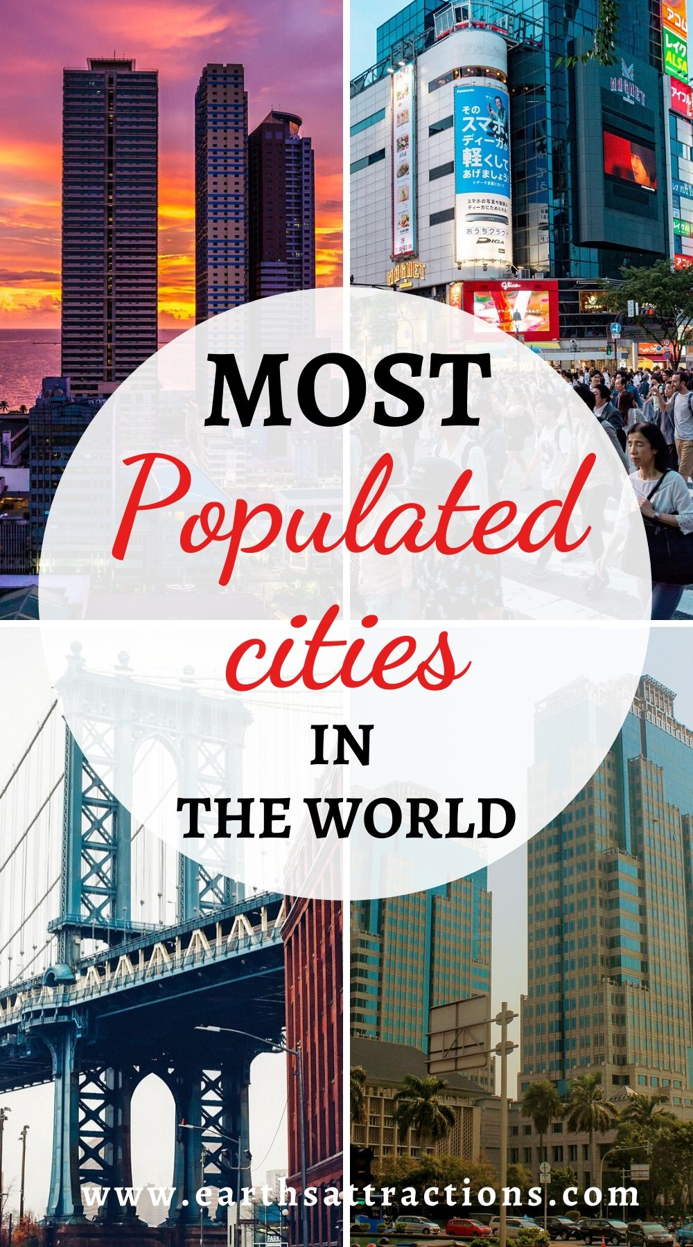 Most populated cities in the world. Discover which are the largest urban areas in the world right now! Read the article and find out the largest cities in the world - prepare to be surprized. #top #topcities #largestcities #populatedcities