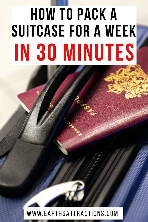 How to pack for a week fast! Read this article and use the travel packing tips and tricks included. Find you how to pack a suitcase for a week in 30 minutes or less. #packing #packinglist