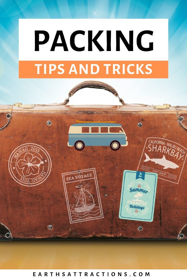 Packing tips and tricks from a seasoned traveler. Discover how to pack for a week in 30 minutes or less! Bonus: packing list template #packing #packinglist