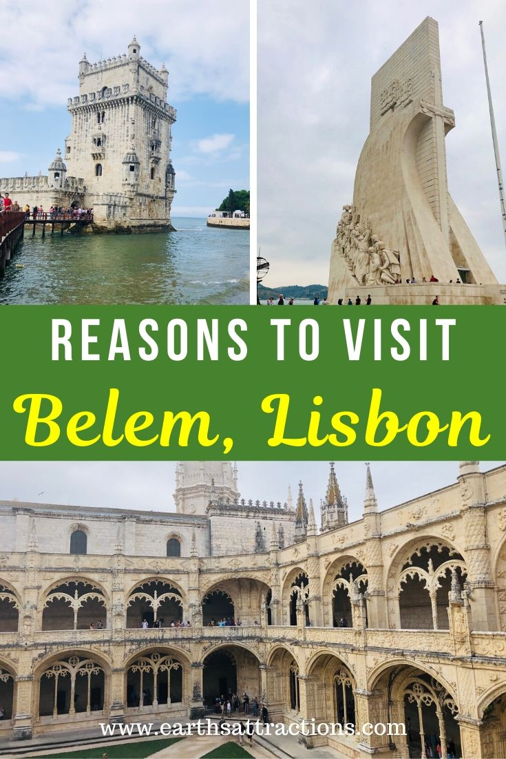 Planning a trip to Lisbon, Portugal? Then you should definitely include Belem on your Lisbon itinerary! Discover the best places to visit in Belem, Lisbon and reasons to visit Belem, plus information about history and public transportation in Lisbon from this article. Use it to create your Lisbon itinerary! #belem #lisbon #belemlisbon #portugal #travel #europe #earthsattractions