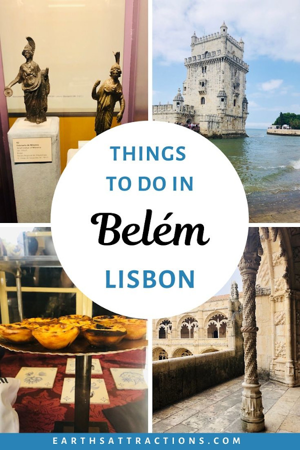 The best things to do in Belem, Lisbon, Portugal. Discover the Jerónimos Monastery, Belem Tower, National Archaeology Museum and more tourist attractios in Belem, Lisbon from this article. Find out how to spend a day in Belem - or half a day in belem, Lisbon, if you are on a short trip to Lisbon. #belem #lisbon #belemlisbon #portugal #travel #europe #earthsattractions