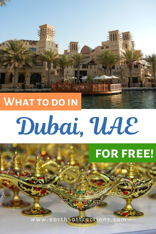 Find out now what to do in Dubai for free. Did you know that there are numerous free things to do in Dubai, UAE? This budget guide to Dubai includes the best free places to visit in Dubai! Read it now and find out how to explore Dubai on a budget! #dubai #uae #dubaitips #traveltips #travelguides #budgetguide #earthsattractions #asia #asiatravel