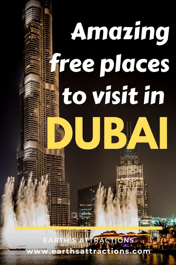 Amazing FREE places to visit in Dubai, UAE. Read this budget guide to Dubai to find out the best free attractions in Dubai to include on your Dubai itinerary. These are the top things to do in Dubai on a budget! #dubai #uae #dubaitips #traveltips #travelguides #budgetguide #earthsattractions #asia #asiatravel