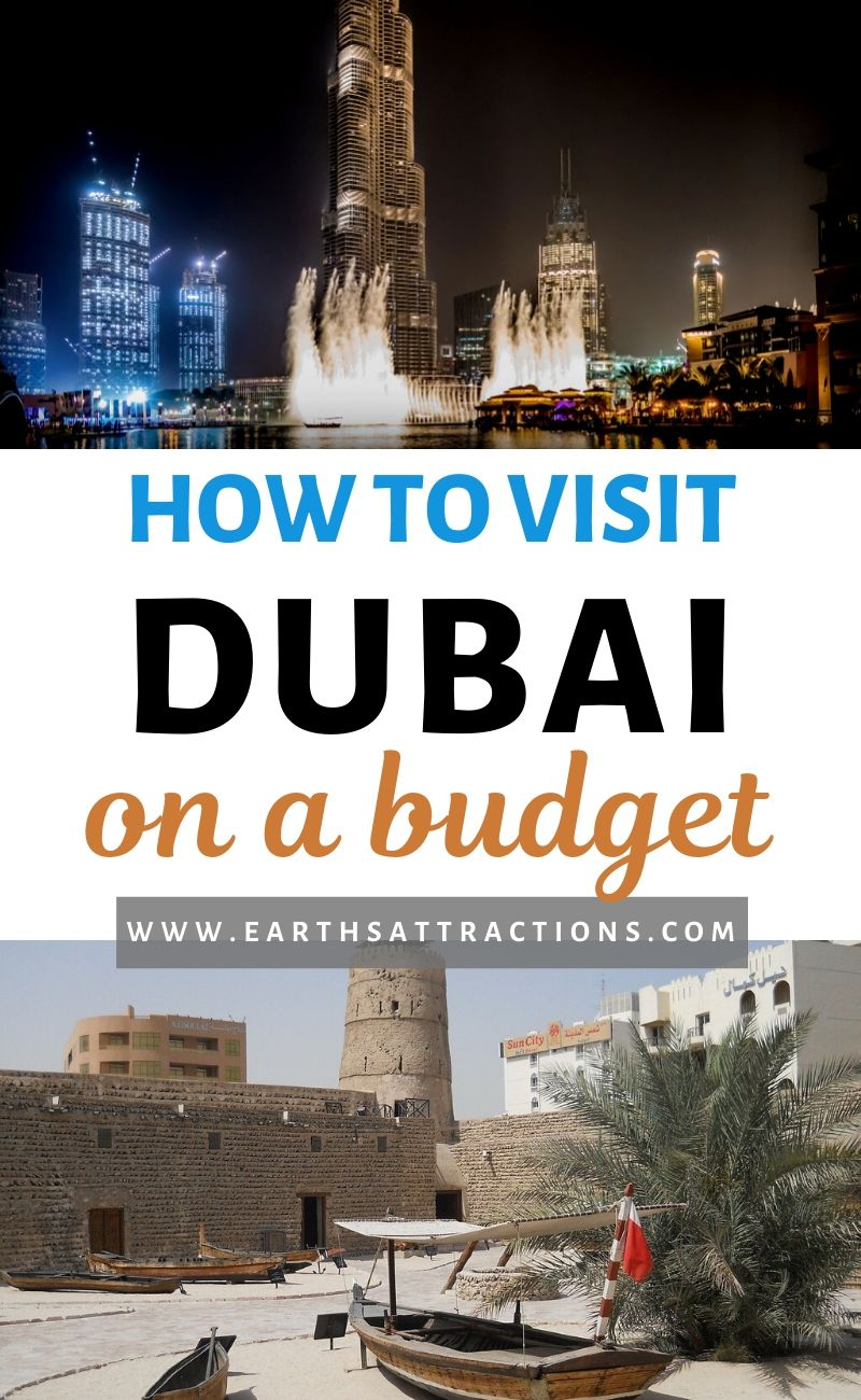 How to visit Dubai on a budget: read this budget guide to Dubai and discover the best free things to do in Dubai to include on your Dubai trip. Create your Dubai itinerary with these places to visit in Dubai for free! Read it now! #dubai #uae #dubaitips #traveltips #travelguides #budgetguide #earthsattractions #asia #asiatravel