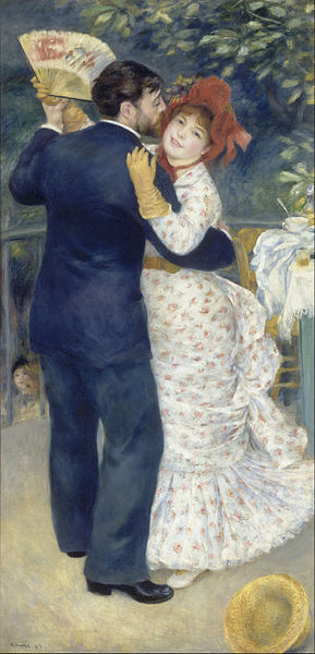 Pierre Auguste Renoir - Country dance, Orsay Museum, Paris. Things to know before visiting Musée d'Orsay, Paris, France.