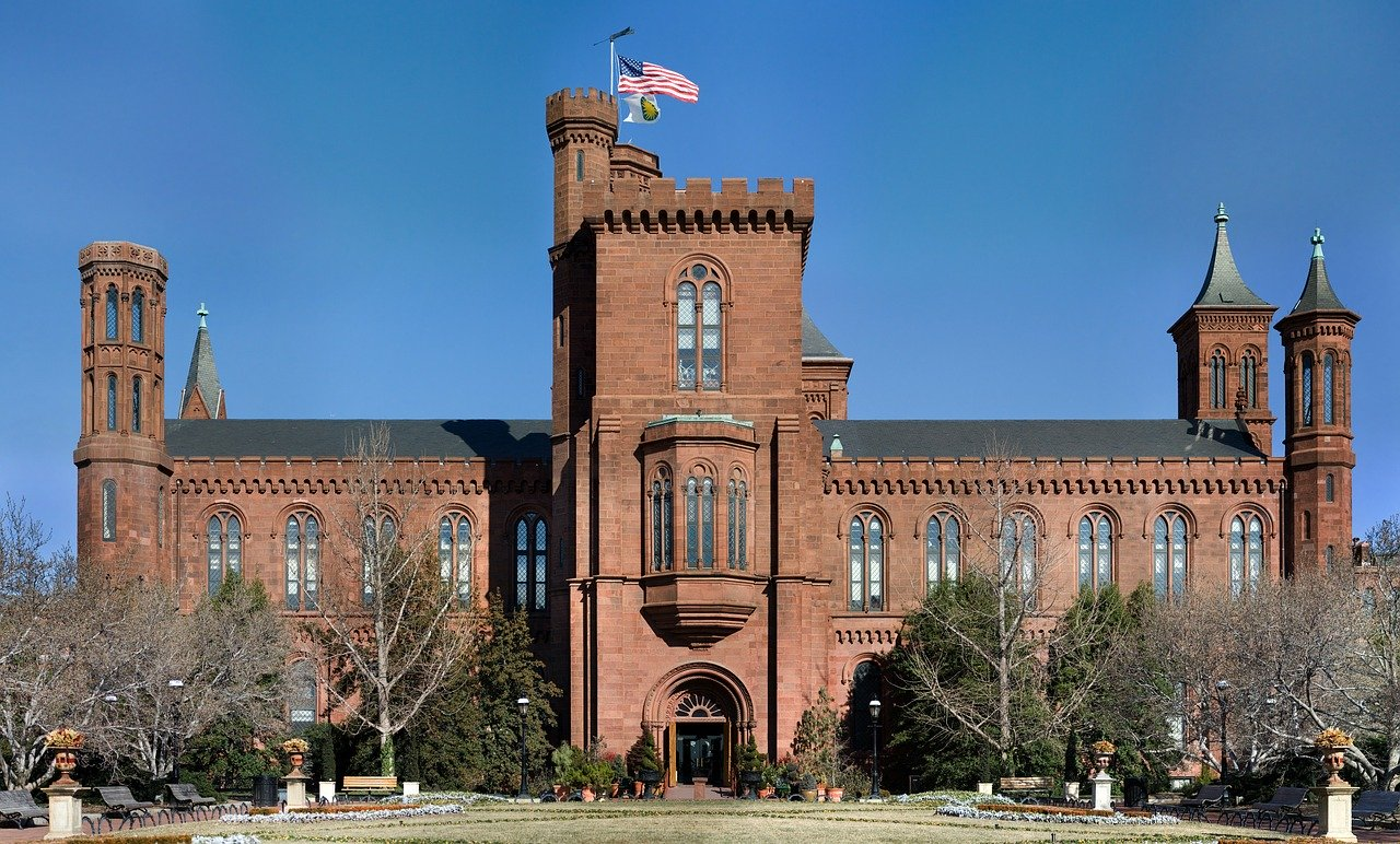 Smithsonian Institution Building (aka The Castle) is one of the must visit museums in Washington DC, USA