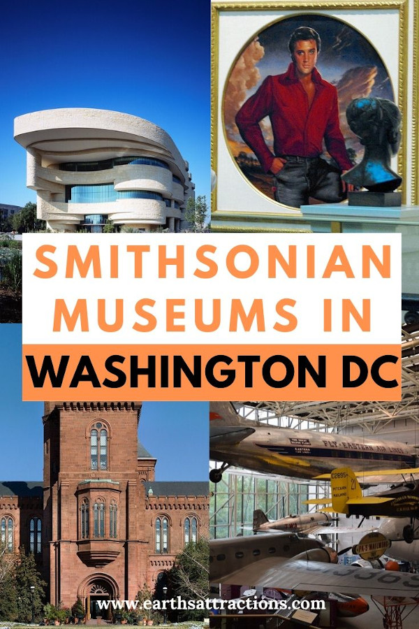 An overview of the Smithsonian Museums in Washington DC, USA. Discover the best museums to visit in Washington DC on your trip to Washington. #usa #washington #museums #smithsonian #travel #culture #earthsattractions #traveltips