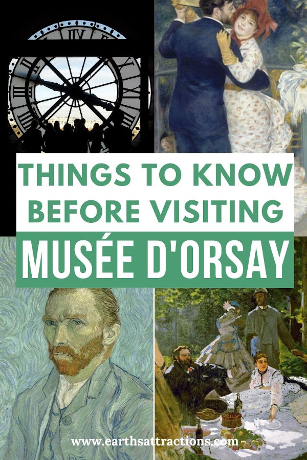 Things to know before visiting Musée d'Orsay, Paris, France. This article includes the best Orsay Museum travel tips to help you have an amazing visit! Discover what you need to know before going to the Orsay Museum. Read the article now and save this pin to your boards! #museedorsay #paris #paristips #orsay #orsaytips #traveltips #france #europe #museum #orsaymuseum #parismuseum #earthsattractions