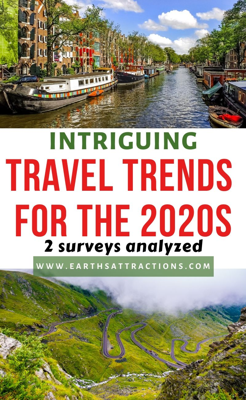Interesting travel trends for the 2020s and the top wish list travel destinations for the 2020s. I compared the results of 3 travel research to give you a complete view of the 2020 travel trends. Use the list of ddream vacation spots to create your travel bucket list for the 2020s as there are many great travel destinations ideas! #traveltrends #travelsurvey #travelresearch #dreamdestinations #bucketlist #traveldestinations #wishlistdestinations #whislist