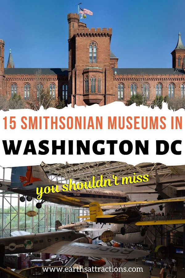 15 Amazing Washington Smithsonian Museums to visit! Include these great museums in Washington on your final Washington DC bucketlist! #usa #washington #museums #smithsonian #travel #culture #earthsattractions #traveltips