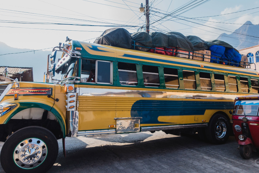Chicken Bus - a unique experience in Guatemala. Here are the top 10+ reasons to visit Guatemala and the best things to do in Guatemala, including day trips in Guatemala.