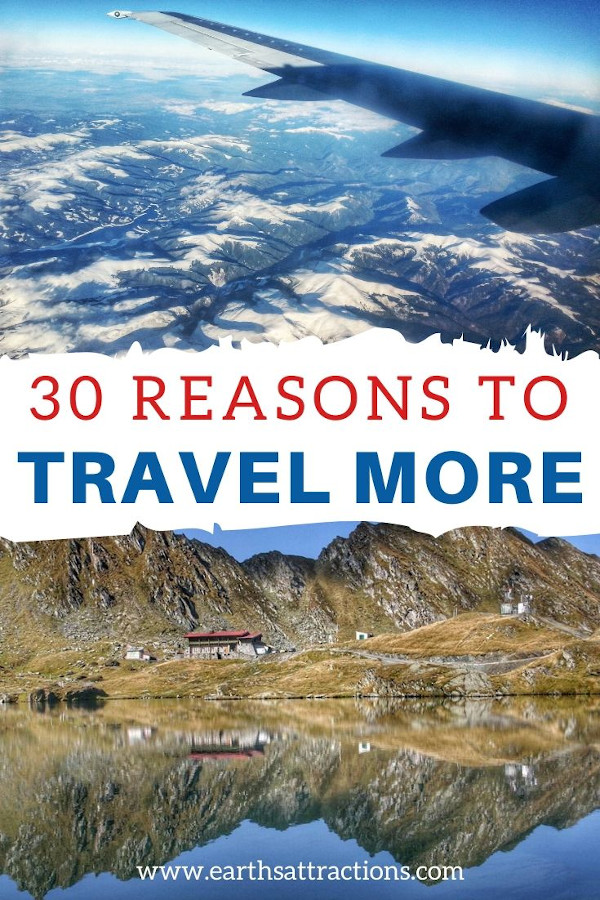 30+ Reasons to travel more right now! Discover 30+ amazing travelling benefits and why travel is good for your health and wellbeing! #travel #traveltips #travelhack #earthsattractions #ilovetotravel #health #traveltherapy